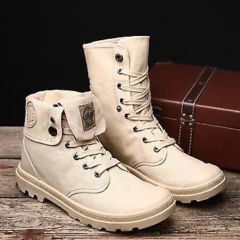 Pánské vojenské boty, high top muži ležérní boty kotníkové boty