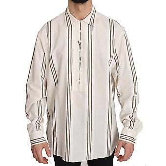 חולצת כותנה מפוספס בז '