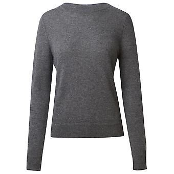 360 Cashmere 42253mhgr Women's Grey Cashmere Sweater