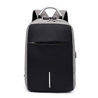 Men Multifunction Anti Theft  Usb Charging Laptop Bag