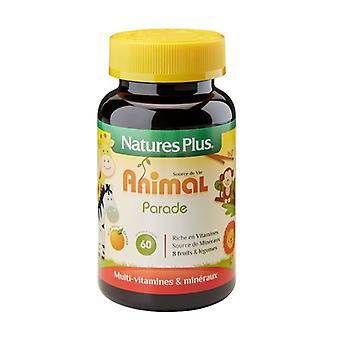 الطفل موكب الحيوان البرتقال 60 أقراص للمضغ (البرتقالي)