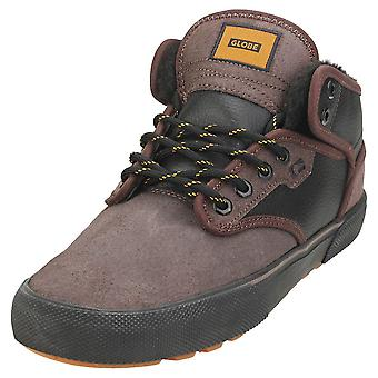 Globe Motley Mid Mens Chukka Trainers in Dark Chocolate