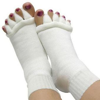 Massage Open Five Toe Separator Socks Pain Relief Hot Socks