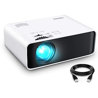 """Mini Projector LED 1080 Full HD Supported Video Projector, 200"""" Display"""