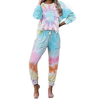 Toamna Tie Dye Pijama Set Sleep Wear Lounge Sleeping Nightwear