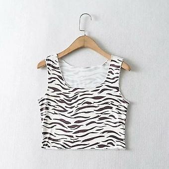 Zebra gedruckt ärmellose Tank Top Camis
