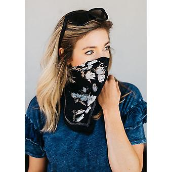 Boho Bandana Face Mask Black