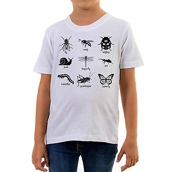 Reality glitch insects sketch kids t-shirt