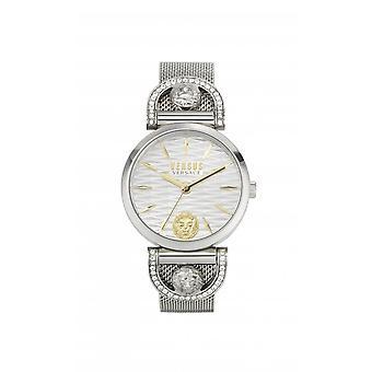 Versus Watches Iseo White Dial Stanless Steel Mesh Swarovski Crystal Watch VSPVP0420