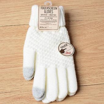 Mănuși de iarnă touch screen, mănuși de tricot stretch cald, imitație, lână completă