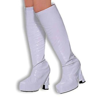 Bristol novelty ba309 go boot tops white, womens, one size