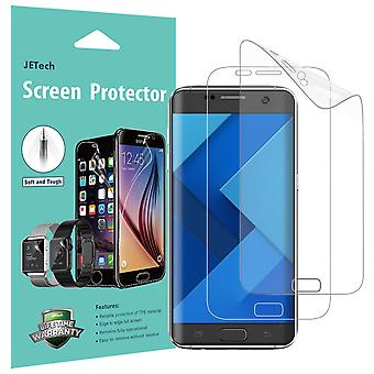 Jetech screen protector for samsung galaxy s7 edge, tpe ultra hd film, full screen coverage, 2-pack