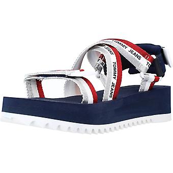 Tommy Jeans Sandals Lurex Webbing Strappy Sa Couleur C87navy
