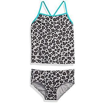 Brand - Spotted Zebra Toddler Girl's Tankini Swimsuit, Grey Cheetah, 2T