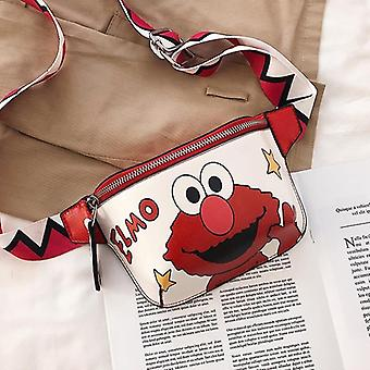 Cartoon Pattern Waist Bags With Adjustable Strap-pu Leather Pouch