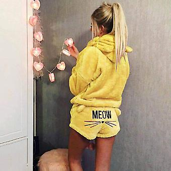 Γυναίκες Pajama Σύνολα, Φθινόπωρο Χειμώνας φανέλα κινούμενα σχέδια ζεστό sleepwear Homewear