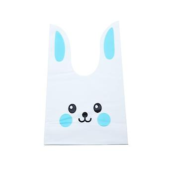 Cute Rabbit Ear Cookie Plastic Candy Bags For Biscuits Snack Baking Package