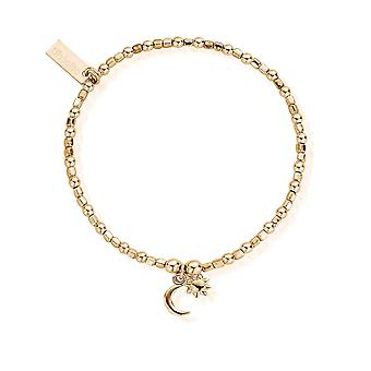 ChloBo Gold Dainty Moon And Sun Bracelet GBCFB1097