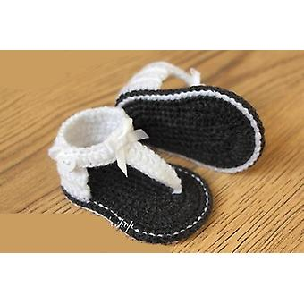 Baby Summer Sandals With Little Puff Flowers