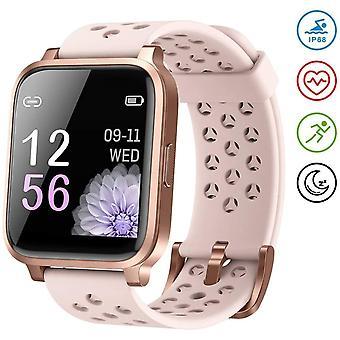 """Älykello Naiset,1.3"""" Kosketusnäyttö Älykello Fitness Trackers Sykemittarilla, Vedenpitävä IP68 Activity Tracker -sekuntikello, Naiset kellot iOS Android-Pinkille"""