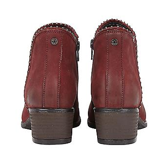Lotus BENNY Block Heel Bottines - Rouge
