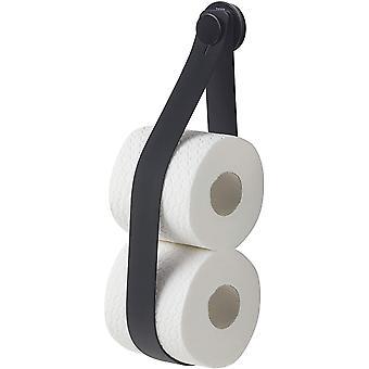 Tiger Urban Toilet Roll Holder, Stainless Steel, Black, 5 x 38 x 2.9 cm
