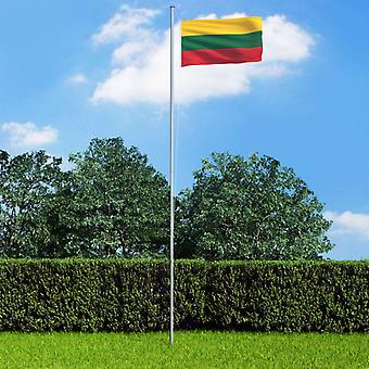 vidaXL علم ليتوانيا 90×150 سم