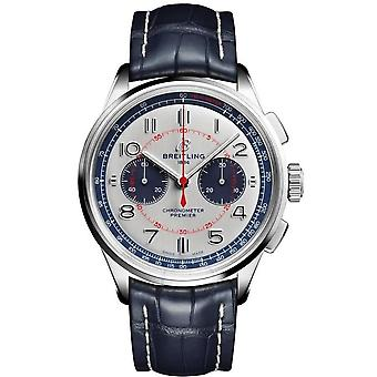 Breitling Premier Chronograph Automatic White Dial Men's Watch AB0118A71G1P1