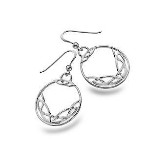 Sterling Silber Ohrringe - keltische verdrehtknoten Runde