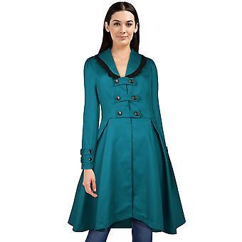 Elegante chaqueta de hebilla de estrella en turquesa