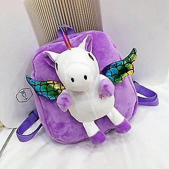 Cute Unicorn Fur Zipper Backpack