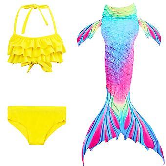 Hableány lány fürdőruha háromrészes bikini farok úszás tscs-14