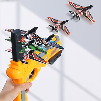 Enfants Aircraft Launch Platform Pistol Outdoor Sports Multiplayer Interactive Game One-Key Catapult Foam Gliding Plane Toys
