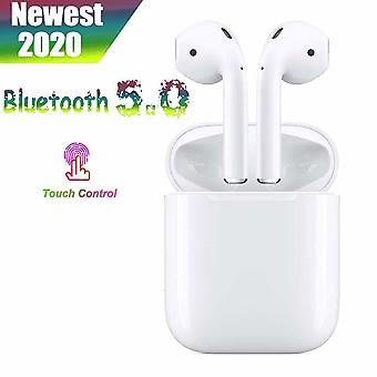 Wireless In-Ear Headphones Bluetooth 5.0 Earbuds, Touch Earbuds (IPX7) Waterproof Bass 3D Stereo Sport Mic Headphones 20H Music Handsfree Kit, for Apple iphone / Android / AirPods Pro