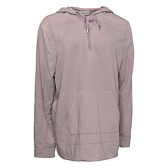 Koolaburra by UGG Women's Hoodie Plus French Terry 1/4 Zip Pink A386470