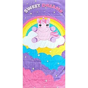 toalha de praia menina 70 x 140 cm algodão roxo/rosa