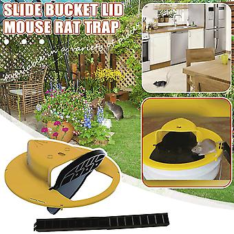 Reusable Plastic Smart Mouse Trap Flip N Slide Bucket Lid Mouse Rat Mouse trap Humane Or Lethal Trap Door Style Multi Catch