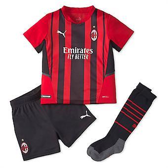 Puma Kids AC Milan Home Mini Kit 2021 2022 Fotboll Inhemska Replika Set