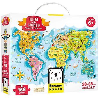 FengChun - Was in der Welt Junge Entdecker - Groes Bodenpuzzle und Lernaktivitt fr Kinder ab 6