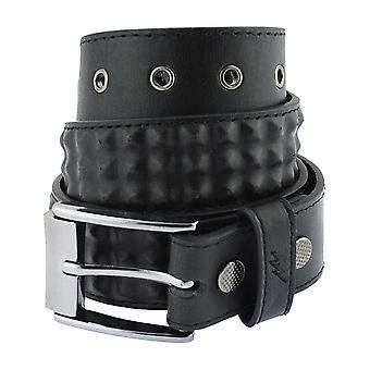 Lowlife Cover Up Ledergürtel in schwarz