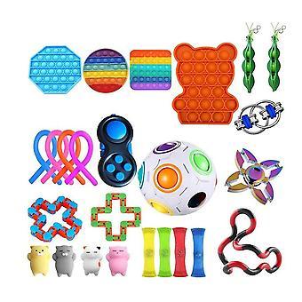 Sensory fidget toys set bubble pop stress relief   for kids adults jy6