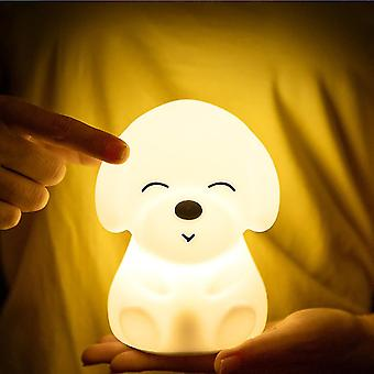 16 Colors Dimmable Usb Rechargeable Silicone Puppy Lamp