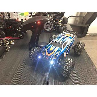 Four wheel drive remote control car 1:18 off road drifting children's electric toy RC model(Blue)