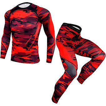 Tracksuit, Running Sports Suit Compression T-shirt