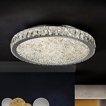 Schuller Dana - Cristal de luz do teto de descarga dimmable, cromado, âmbar