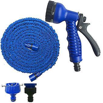 25Ft blue 25ft-100ft expandable flexible garden water pipe with spray gun az39