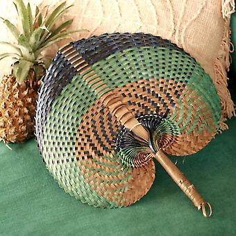 """Balilainen kudottu käsi tuuletin """"tropica"""""""