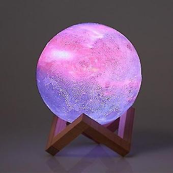 ل10cm/3.94in 3D الطباعة نجم القمر مصباح USB قاد القمر على شكل جدول ليلة ضوء WS37870