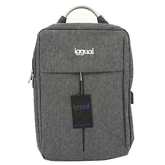 """Laptop Backpack iggual All Tech In 15,6"""" Impermeable Grey"""