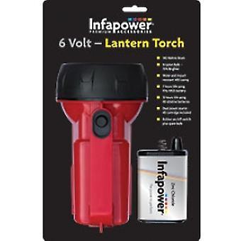 Infapower F014 6V latarnia latarka czerwony